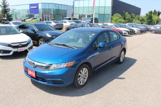 Used 2012 Honda Civic EX Accident Free, One Owner Civic in Great Condition! Sold As-Is To Save You Money! for sale in Waterloo, ON
