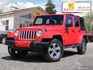 Used 2018 Jeep Wrangler JK Unlimited Sahara Leather,Nav.,4X4 ,C.Start for sale in Brandon, MB