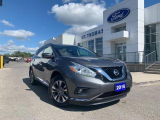 Used 2016 Nissan Murano SV AWD/Navi/Roof/Alloy Wheels for sale in St Thomas, ON