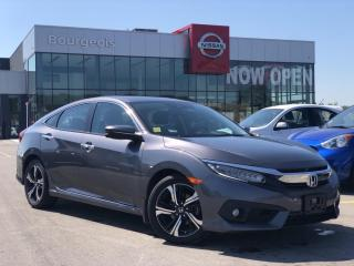 Used 2017 Honda Civic Touring LEATHER, NAVIGATION, SUNROOF for sale in Midland, ON