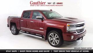 Used 2016 Chevrolet Silverado 1500 High Country Crew Cab 4x4, 5.3L V8, Power Sunroof, for sale in Winnipeg, MB