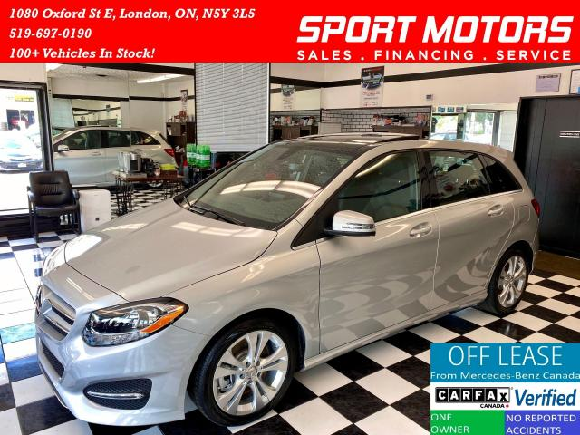 2016 Mercedes-Benz B-Class 4Matic+Pano Roof+Camera+GPS+ApplePlay+AccidentFree