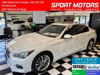 Used 2018 Infiniti Q50 2.0t Luxe+AWD+Camera+Leather+Sunroof+Accident Free for sale in London, ON
