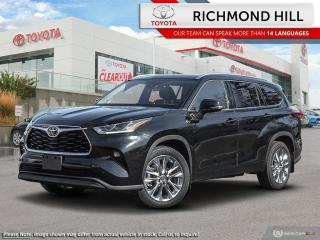 New 2020 Toyota Highlander LIMITED AWD for sale in Richmond Hill, ON