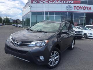 Used 2015 Toyota RAV4 LIMITED AWD **CUIR/TOIT/GPS** for sale in St-Eustache, QC