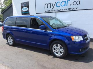 Used 2019 Dodge Grand Caravan Crew LEATHER, DVD, NAV, HEATED SEATS, PWR DOORS!! for sale in North Bay, ON