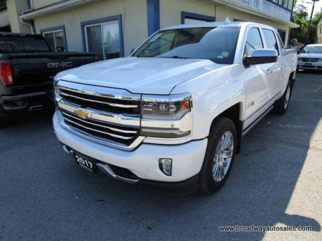2017 Chevrolet Silverado 1500 LIKE NEW HIGH-COUNTRY EDITION 5 PASSENGER 5.3L - VORTEC.. 4X4.. CREW.. SHORTY.. NAVIGATION.. LEATHER.. HEATED/AC SEATS.. BACK-UP CAMERA.. SUNROOF..