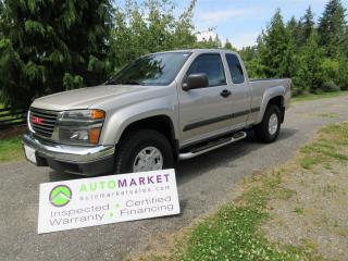 Used 2004 GMC Canyon Z71 4WD FULLY INSPECTED, FREE BCAA MBSHP, FREE WARRANTY AND FINANCING! for sale in Surrey, BC