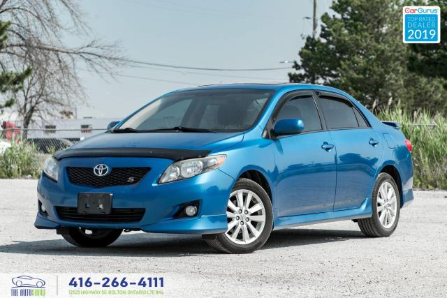 2009 Toyota Corolla S-5 speed|Moon roof|Alloy|Clean Carfax|A/c