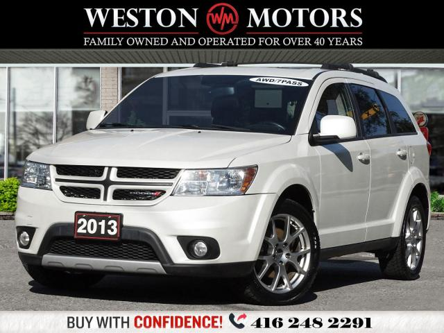 2013 Dodge Journey R/T*V6*AWD*NAVIGATION*LEATHER*SUNROOF*7PASS*DVD*