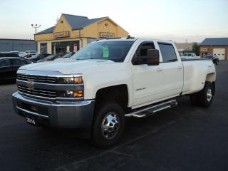 Used 2016 Chevrolet Silverado 3500 LT CrewCab 4x4 6.6L Diesel DRW 8ft Box for sale in Brantford, ON