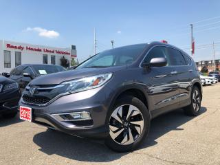 Used 2015 Honda CR-V Touring Navi - Leather - sunroof - Alloy for sale in Mississauga, ON