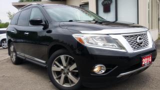 Used 2014 Nissan Pathfinder PLATINUM 4WD - LEATHER! NAV! 360 CAM! DVD! for sale in Kitchener, ON