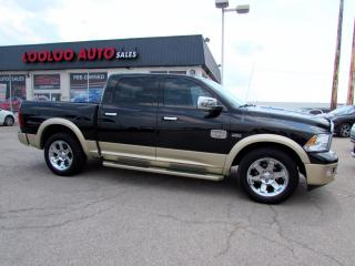 Used 2012 Dodge Ram 1500 Laramie Longhorn Edition Crew Cab 4WD Hime Certified for sale in Milton, ON