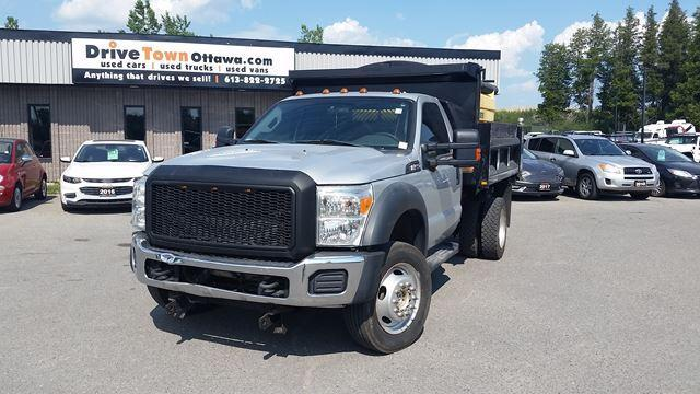 2013 Ford Super Duty F-550 XL 4X4 DUMP TRUCK **9FT FISHER PLOW**SALTER**