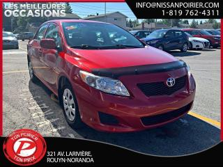 Used 2010 Toyota Corolla CE for sale in Rouyn-Noranda, QC