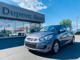 Used 2017 Hyundai Accent Voiture à hayon, 5 portes, boîte manuell for sale in Alma, QC