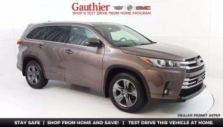 Used 2017 Toyota Highlander Limited AWD, V6, Power Sunroof, Navi, Quad Seating for sale in Winnipeg, MB