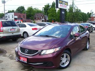 Used 2013 Honda Civic BLUETOOTH,ALLOYS,AUX & USB,CERTIFIED,HEATED SEAT for sale in Kitchener, ON