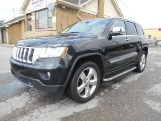 Used 2012 Jeep Grand Cherokee Overland 3.6L V6 Leather Panoramic Roof Navi 185Km for sale in Rexdale, ON