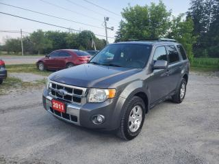 Used 2011 Ford Escape Limited LEATHER SUNROOF AWD  LOW KMS CERTIFIED for sale in Stouffville, ON