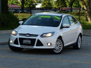 Used 2013 Ford Focus LEATHER,TITANIUM,BACK-CAM,NAVI,LOADED,NO-ACCIDENT, for sale in Mississauga, ON
