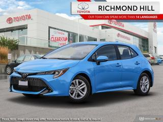 New 2020 Toyota Corolla Hatchback COROLLA HATCHBACK for sale in Richmond Hill, ON