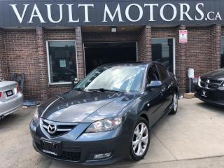 Used 2009 Mazda MAZDA3 4dr Sdn GT LEATHER 1 YEAR ENGINE/TRANSMISSION WARRANTY INCLU for sale in Brampton, ON