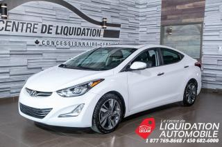 Used 2015 Hyundai Elantra Limited,MAGS,GR/ÉLECT,A/C,CAM/REC,TOIT,GPS,CUIR for sale in Laval, QC