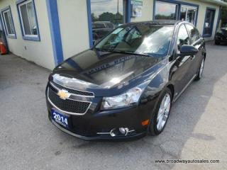 Used 2014 Chevrolet Cruze GAS SAVING 2-LT - RS EDITION 5 PASSENGER 1.4L - TURBO.. LEATHER.. HEATED SEATS.. POWER SUNROOF.. BACK-UP CAMERA.. BLUETOOTH SYSTEM.. for sale in Bradford, ON