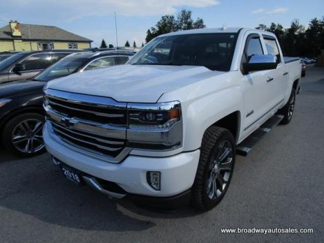 2018 Chevrolet Silverado 1500 GREAT KM'S HIGH-COUNTRY EDITION 5 PASSENGER 6.2L - V8.. 4X4.. CREW-CAB.. SHORTY.. NAVIGATION.. LEATHER.. HEATED/AC SEATS.. DVD PLAYER.. POWER PEDALS..