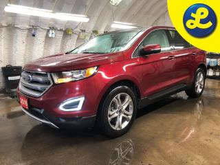 Used 2016 Ford Edge Titanium * AWD * Navigation * Panoramic Roof * White Leather * Power Lift-gate * Blind spot assist * Cross traffic alert * Back up Camera with park as for sale in Cambridge, ON