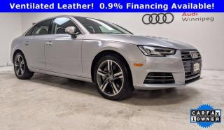 Used 2017 Audi A4 Technik w/Comfort Seating Package *Low KM* for sale in Winnipeg, MB