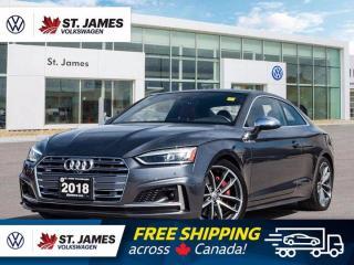 Used 2018 Audi S5 Coupe Technik, Push to Start, Backup Camera, Sunroof for sale in Winnipeg, MB