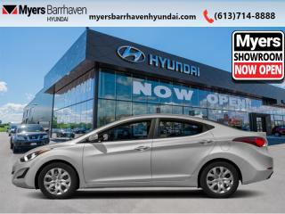 Used 2016 Hyundai Elantra GL  - Heated Seats - Low Mileage for sale in Nepean, ON