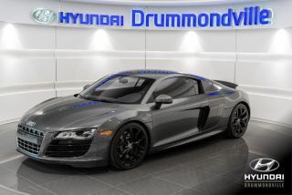 Used 2010 Audi R8 5.2L + V10 + QUATTRO + GARANTIE + NAVI + for sale in Drummondville, QC