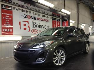 Used 2010 Mazda MAZDA3 MAZDA3 SPORT GT TOIT DÉMARREUR DISTANCE FULL ! for sale in Blainville, QC