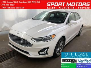 Used 2019 Ford Fusion Hybrid Titanium+Nav+Cooled Seats+Tech PKG+Accident Free for sale in London, ON