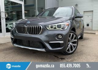 Used 2016 BMW X1 X1- BRAND NEW TIRES NAV, LEATHER, NAV, PANO ROOF, BACK UP, FUN LITTLE SUV! for sale in Edmonton, AB