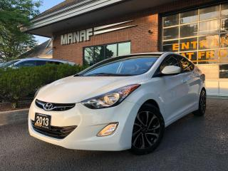 Used 2013 Hyundai Elantra GLS Man Sunroof Heated Seats Alloys Certified* for sale in Concord, ON