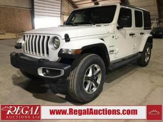 Used 2020 Jeep Wrangler Sahara 4D Utility 4WD for sale in Calgary, AB