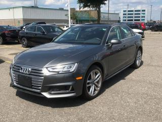 Used 2018 Audi A4 2.0T Technik LEATHER  ROOF  NAVI  BLIS  B&O for sale in Ottawa, ON