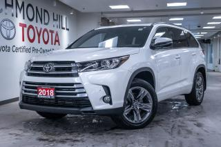 Used 2018 Toyota Highlander Limited AWD  - Navigation - $400.79 B/W for sale in Richmond Hill, ON