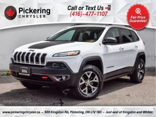 Used 2016 Jeep Cherokee Trailhawk - Leather/Sunroof/Heated Seat/19S/NAV for sale in Pickering, ON