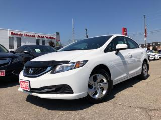 Used 2015 Honda Civic Sedan LX Air - Power group - Bluetooth - Rear camera for sale in Mississauga, ON