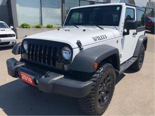 Used 2018 Jeep Wrangler JK Willys Wheeler 4x4 w/Bluetooth, Hardtop, Side Step for sale in Hamilton, ON