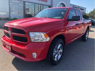 Used 2018 RAM 1500 Express Quad 4x4 V6 w/Boxliner, Bluetooth, Backup for sale in Hamilton, ON