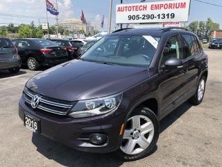 Used 2016 Volkswagen Tiguan Comfortline 4motion AWD Leather/Sunroof/Navigation for sale in Mississauga, ON