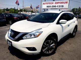 Used 2017 Nissan Murano Prl White Navigation/Parking Control/Camera/Alloys for sale in Mississauga, ON