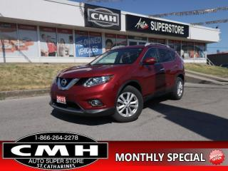 Used 2015 Nissan Rogue SV  AWD P/SEAT REAR-CAM BT HS PANO-ROOF for sale in St. Catharines, ON